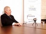 Miloš Zeman odpovídá na osobní otázky pro Volba Prezidenta CZ